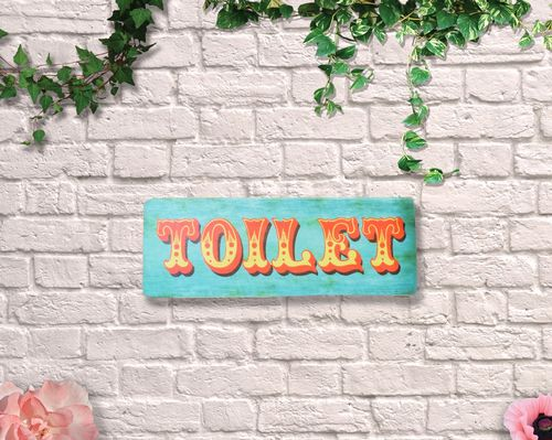 Painted Toilet Circus Sign